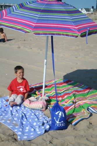 Noblo Umbrella Buddy--Simple Beach Shade Umbrella Anchor (blue)