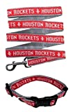 Houston Rockets Nylon Collar and Matching Leash for Pets (NBA Official by Pets First) Size Small