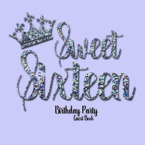 Sweet Sixteen Birthday Party Guest Book