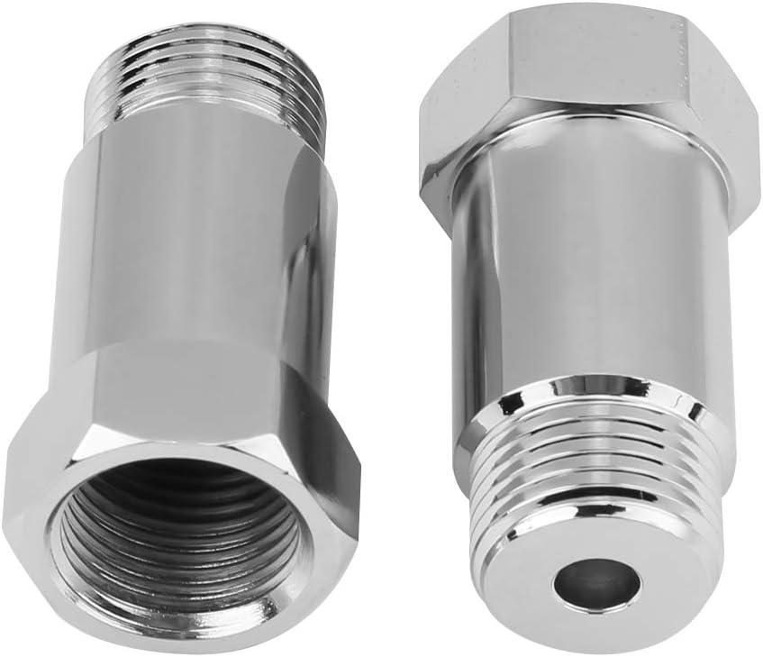 2PCS 45mm M18*1.5 Oxygen Sensor Adapter Check Engine Light Eliminator Adapter Oxygen Sensor Extender for Exhaust Systems