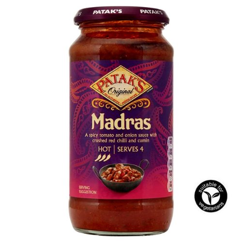 Patak's Madras Hot Curry Sauce 450G