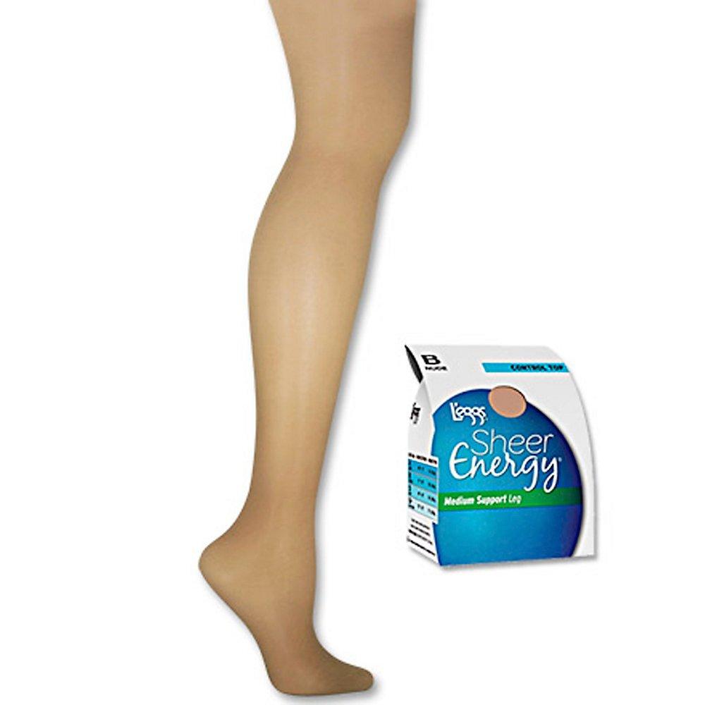 L'eggs Women's Sheer Energy Control Top Sheer Toe Pantyhose 65400