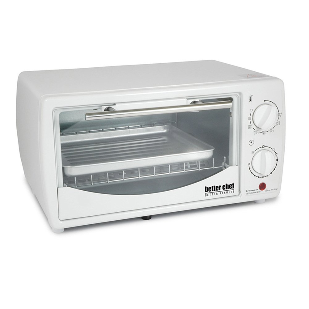 0.32 Cubic Foot Toaster Oven Broiler Color: White by Better Chef (Image #1)