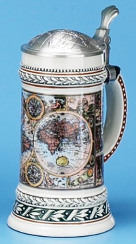 M. CORNELL IMPORTERS 6119 Old World Map Stein