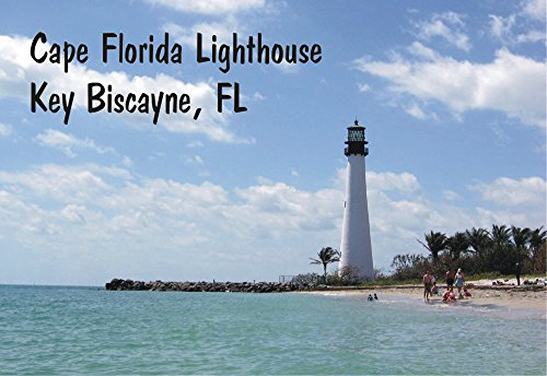 Cape Florida Lighthouse, Key Biscayne, Miami, Florida, FL, Souvenir Magnet 2 x 3 Photo Fridge - Airport Miami Of Pictures