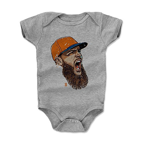 500 LEVEL Dallas Keuchel Baby Clothes, Onesie, Creeper, Bodysuit 3-6 Months Heather Gray - Houston Baseball Baby Clothes - Dallas Keuchel Scream O