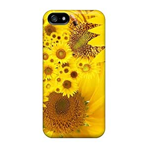 For Mialisabblake Iphone Protective Case, High Quality For Iphone 5/5s Sunflowers Nature Skin Case Cover by lolosakes