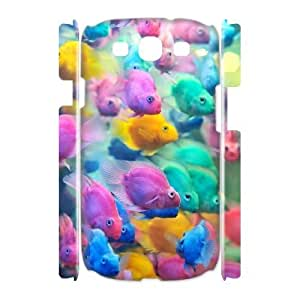 3D Samsung Galaxy S3 Cases the Colors of the Fish Design for Men, Samsung Galaxy S3 Cases for Girls Cheap Doah, [White]