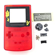 Clear Red Full Housing Set Shell Case for Gameboy Color GBC Replacement Color