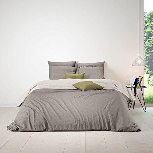 Bettwaren-Shop Wendebettwäsche taupe light beige Bettbezug einzeln 240x220 cm