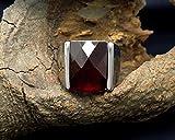 Around 101 Natural Garnet Ring Natal Male Ruby Ring
