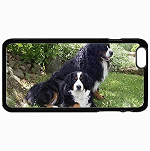 Customized Cellphone Case Back Cover For iPhone 6 Plus, Protective Hardshell Case Personalized Bernese Mountain Dog Black