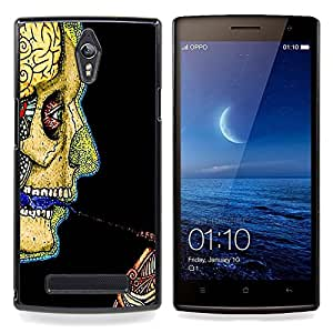 """Planetar ( Cráneo Esqueleto Anatomy Drawing Art Humano"""" ) OPPO Find 7 X9077 X9007 Fundas Cover Cubre Hard Case Cover"""