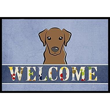 Caroline's Treasures BB1420JMAT Chocolate Labrador Welcome Indoor or Outdoor Mat, 24 x 36 , Multicolor