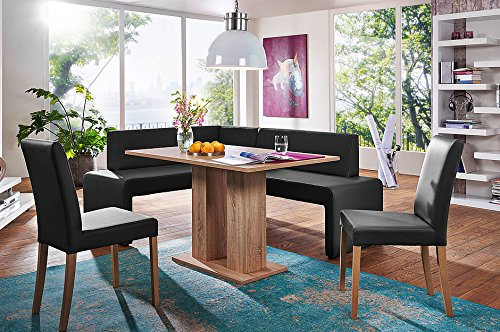 - German Furniture Warehouse 4 Payments with Layaway, 4 Piece Modern Dining Set, Breakfast Nook Asti, Made in Europe