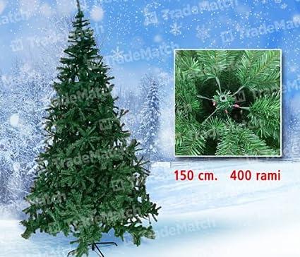 Albero Di Natale 400 Cm.Albero Di Natale Pino Extra Folto Gran Sasso 150 Cm 400 Rami Piedi Metallo Amazon It Casa E Cucina