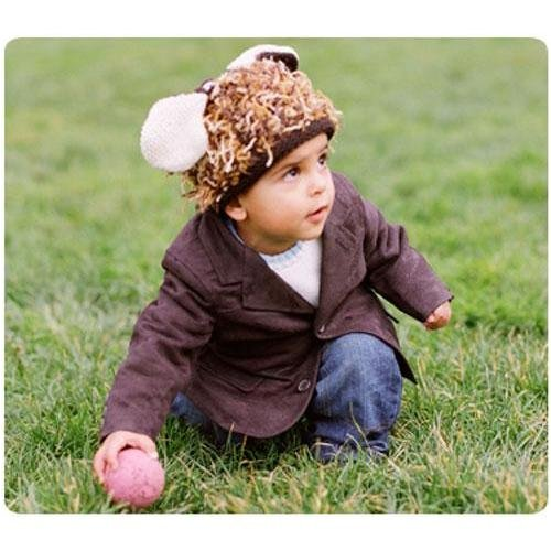 Zooni Mop Top Animal Hat - Puppy Love 6-12 Mos