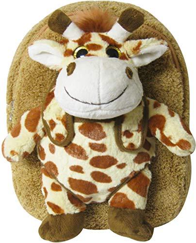 Kreative Kids Adorable Giraffe Plush Backpack w/ Shiny Eyes and Removable Stuffed Animal