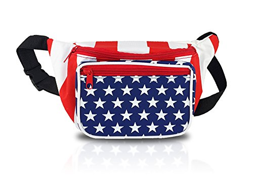 Patriotic Fanny Pack With Stars And Stripes Design (American Flag) ()