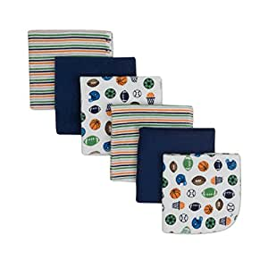 Gerber Washcloth, Sports, 6-Count