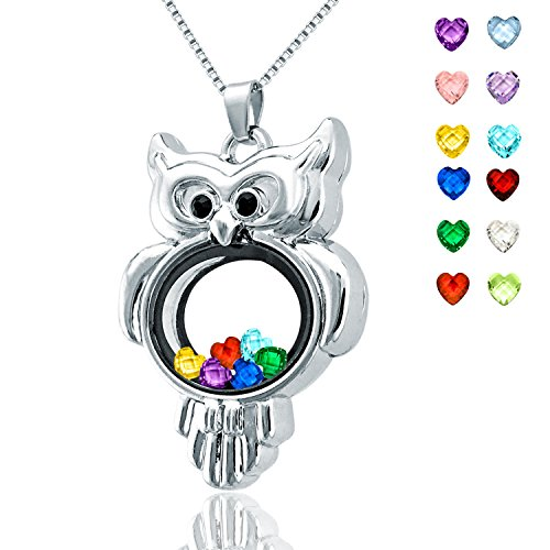 Owl Necklace Charm - 5