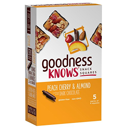 goodnessKNOWS Peach Cherry Almond & Dark Chocolate Gluten Free Snack Squares 5-Count Box by goodnessknows