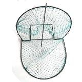 Fashionwu Folding Portable Bird Net Trap, Humane Live Trap Sparrow Pigeon Quail Hunting Mesh Tools