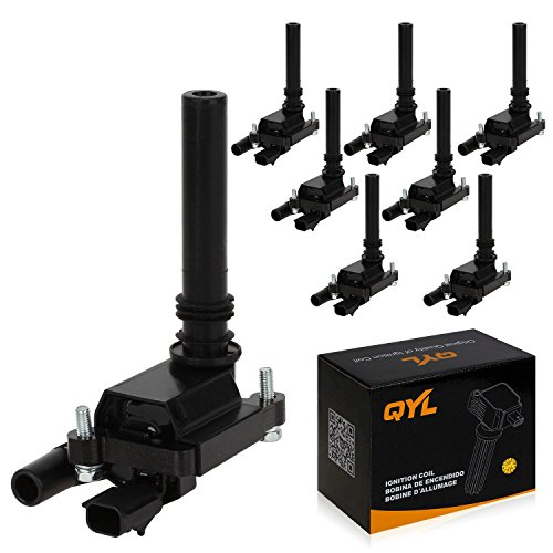 8Pcs Ignition Coil Pack Replacement for Ram 1500 2500 3500 Jeep Grand Cherokee Chrysler 300 Dodge Durango Magnum V8 5.7L C1414 UF-378 UF-505