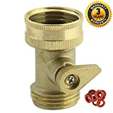 A1006 Heavy Duty Brass Garden Hose Shut Off Valve with Complimentary Garden Hose Washer 10-PC Pack