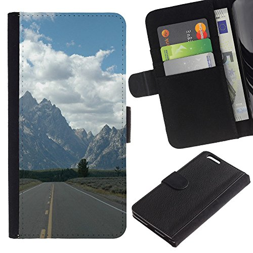 OMEGA Case / Apple Iphone 6 PLUS 5.5 / HAVE FAITH TO MOVE MOUNTAINS / Cuir PU Portefeuille Coverture Shell Armure Coque Coq Cas Etui Housse Case Cover Wallet Credit Card