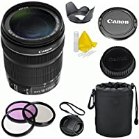 Canon EF-S 18-135mm f/3.5-5.6 IS STM Celltime Premium Zoom Lens Kit for Canon EOS 7D, 60D, EOS Rebel SL1, T1i, T2i, T3, T3i, T4i, T5i, XS, XSi, XT, XTi Digital SLR Cameras (White Box) Noticeable Review Image