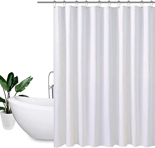 PEVA Fashion Waterproof Shower Curtain Mildew Resistant Odorless Bathroom Hooks