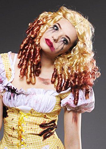 Womens Gothic Zombie Blonde Goldilocks Wig