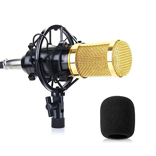 Microphone PC SUMGOTT Condenser Microphone - Professional Studio Microphone with 3.5mm Jack for Broadcasting, Recording,Youtube, Studio by SUMGOTT