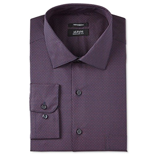 Alfani Mens Stretch Collar Easy Care Button-Down Shirt Navy S from Alfani