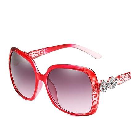 BiuTeFang Gafas de Sol Mujer Hombre Polarizadas Abundante Marco Tendencia Gafas Delgadas Cara Señora Gafas de
