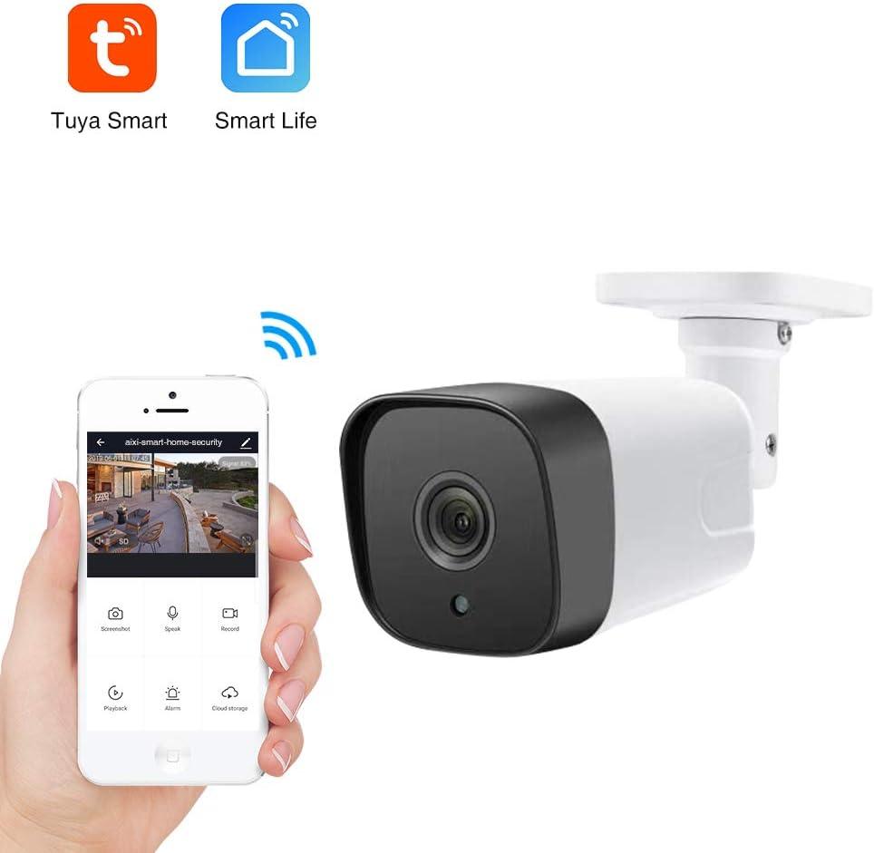 aixi-SHS Wi-Fi Outdoor cámara IP Inteligente 1080P Alta definición Impermeable IP66 detección de Movimiento de Dos vías Audio Loop grabación de la Noche versión-Smart Life App: Amazon.es: Bricolaje y herramientas
