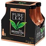 Pure Leaf Iced Tea, Peach, Real Brewed Tea, 18.5 Fluid Ounce (Pack of 6)