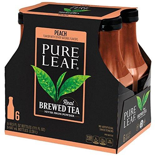 Pure Leaf Iced Tea, Peach, Real Brewed Tea, 18.5 Fluid Ounce (Pack of (Nestea Peach Tea)
