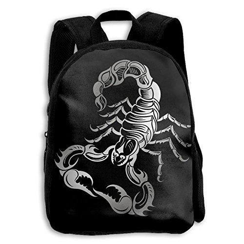 (LAUR School Season Kids Backpack Bookbag,Child Scorpion Silhouette Shoulder Bag)