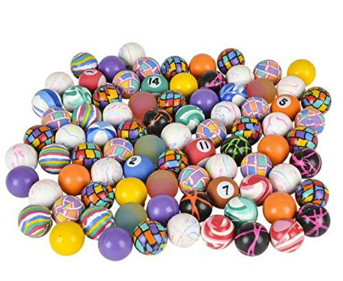 500 MIXED 27MM SUPERBALLS, HIGH BOUNCE, VENDING BALLS, BOUNCY PARTY CARNIVAL (Balls Bouncy Vending)