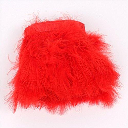 AWAYTR Turkey Marabou Hackle Fluffy Feather Fringe Trim Craft 6-8