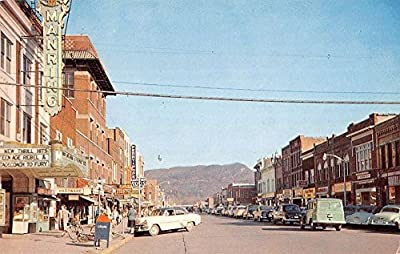 Middlesboro Kentucky business district Pinnacle Mtn behind vintage pc Z22483
