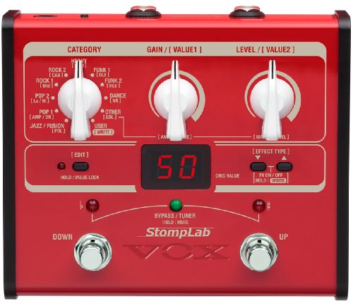 Amp Modeling Effects - VOX StompLab 1B Multi-Effects Modeling Pedal for Bass Guitar