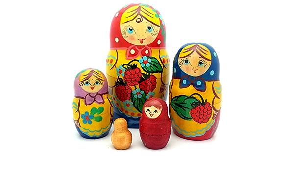 4 in ** strb-3.4 Russian Nesting Doll Strawberry 3 pcs