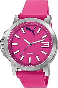 Puma Ultrasize 45 - Reloj análogico de cuarzo con correa de poliuretano unisex, color rosa