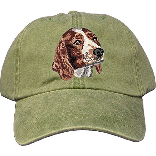 (Cherrybrook Dog Breed Embroidered Adams Cotton Twill Caps - Spruce - Welsh Springer Spaniel )