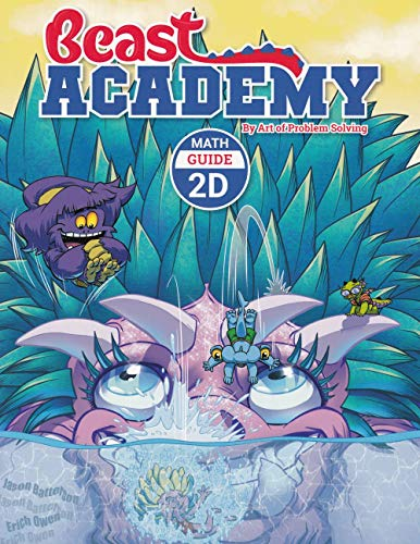 Art of Problem Solving Beast Academy 2A and 2B and 2C and 2D Guide and Practice 8-Book Set