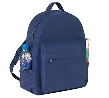 ffcc49c7ba Amazon.com  Yens Fantasybag Eco-Green School Canvas Backpack-Navy Blue