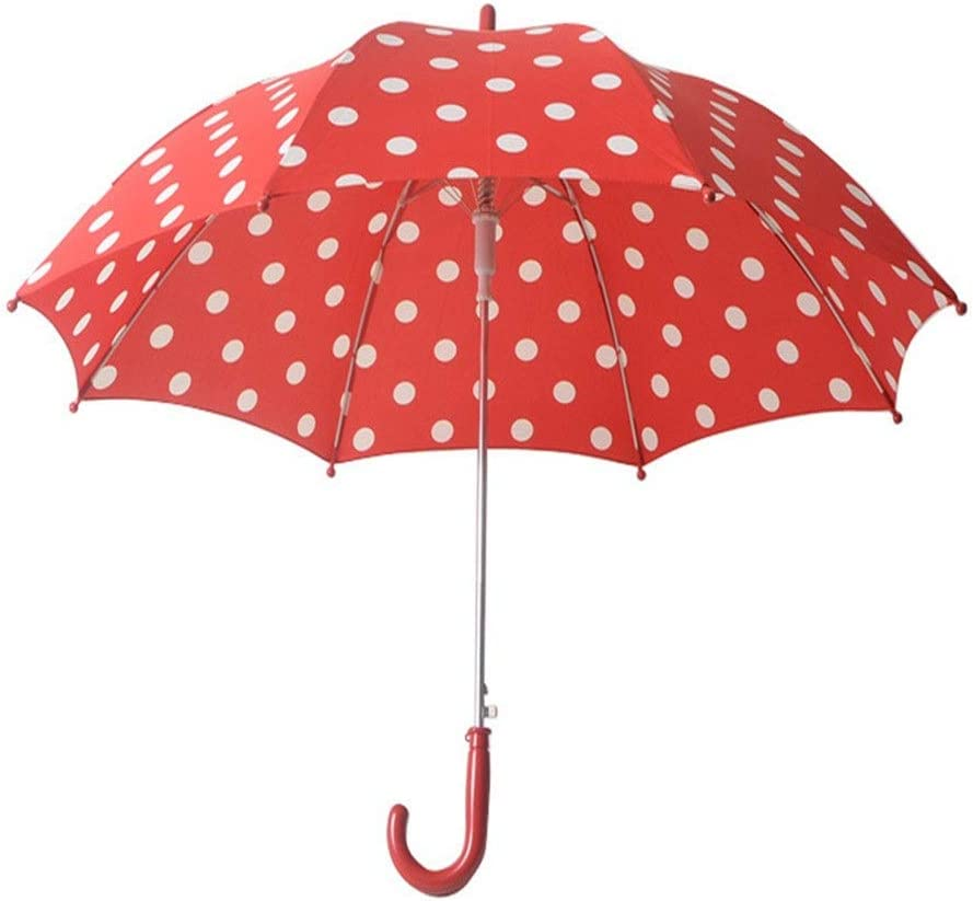 Cdmxgjnd Travel Umbrellas 8 Bone Red Wave Point Children Cartoon Umbrella Children Umbrella Long Handle Umbrella Boys and Girls Umbrella Gifts